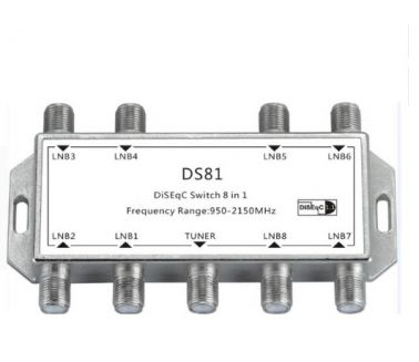 Diseqc Switch 8*1 - دايزك 8 مخرج