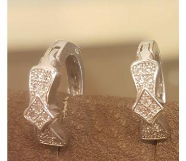 Silver Ribbon Earing