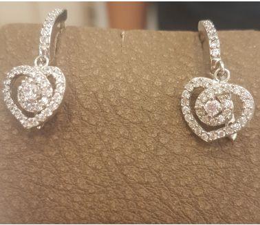 Silver Heart Earing