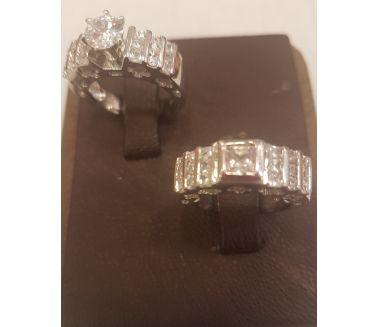 Twins Silver 925 Czech Gems