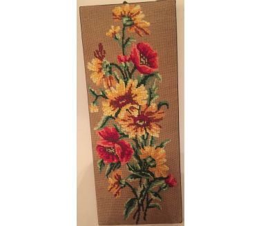 Sunny Red Flowers Tableau