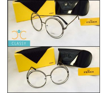 Fendy Glasses (HC) Black Metal