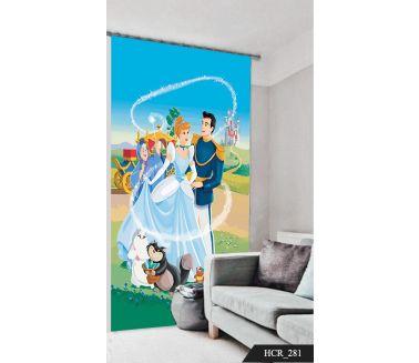 Cinderella Printed Curtain - Code:HCR-281