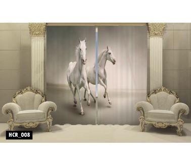 Horses  Printed Curtain - Code:HCR-008
