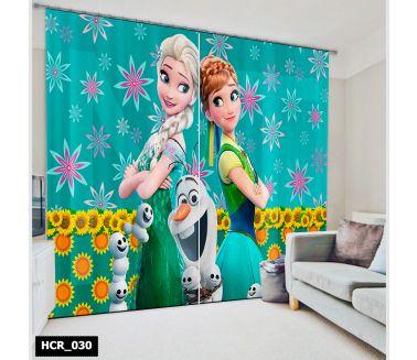 Frozen  Printed Curtain - Code:HCR-030
