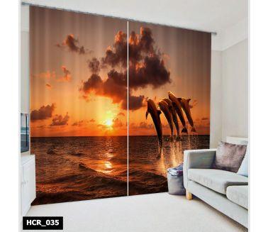 Nature  Printed Curtain - Code:HCR-035