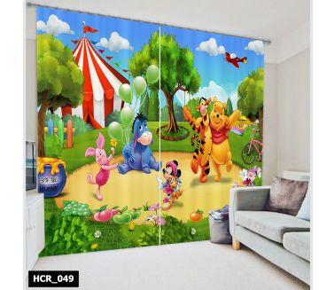 Pooh  Printed Curtain - Code:HCR-049