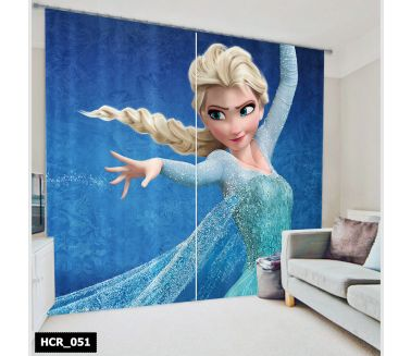 Frozen  Printed Curtain - Code:HCR-051