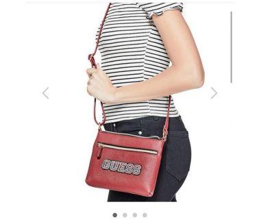 Guess Women Bag-Red